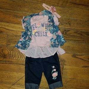 Flower child 4 piece outfit